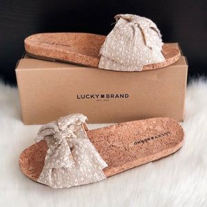 ✨New LUCKY BRAND Floella Bow Slide Sandals